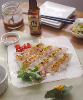 真鯛のアジアンカルパッチョ