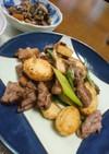 長芋と牛肉と葱の黒胡椒炒め