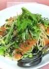 サーモンと香味野菜の冷製パスタ♪