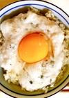 山椒の実とにんにくの☆太陽とろろご飯