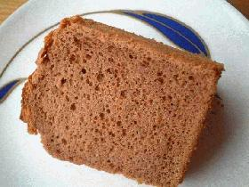 しっとり~♪フワフワ~♪チョコレートシフォンケーキ♪