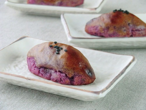紫芋の簡単スイートポテト