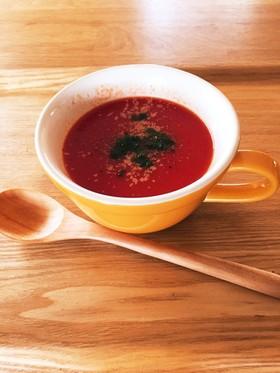 電子レンジで簡単★イタリアントマトスープ