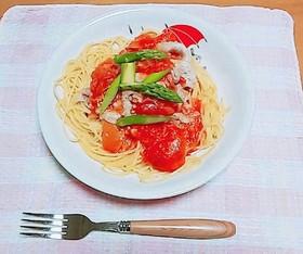 冷しゃぶトマトパスタ