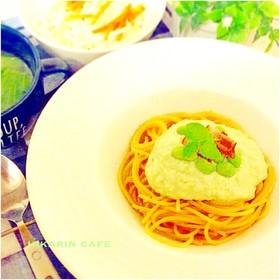 枝豆豆腐クリームの冷製パスタ♪