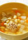 大根と大豆たっぷりスープ!栄養満点♪