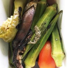 定番化 夏野菜の焼き浸し