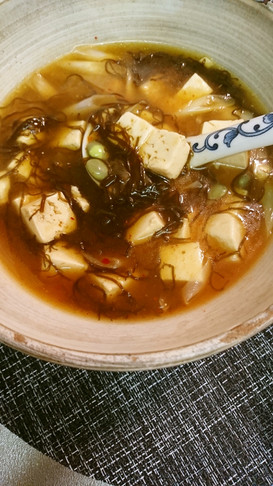 豆腐・もずくキムチスープ