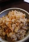 干しエビと塩昆布の簡単炊き込みご飯