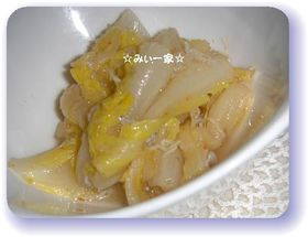 すし酢de白菜の甘酢漬け