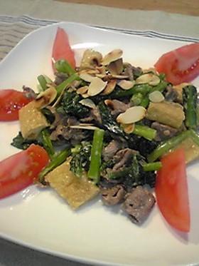 鉄分たっぷり♪小松菜と牛肉のサラダ