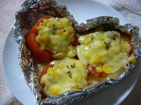 トマトのツナマヨチーズ焼き♪