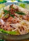 美味しい簡単すぎ〜サバ水煮缶➕レタス素麺