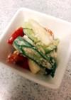 夏野菜と豆腐のサラダ