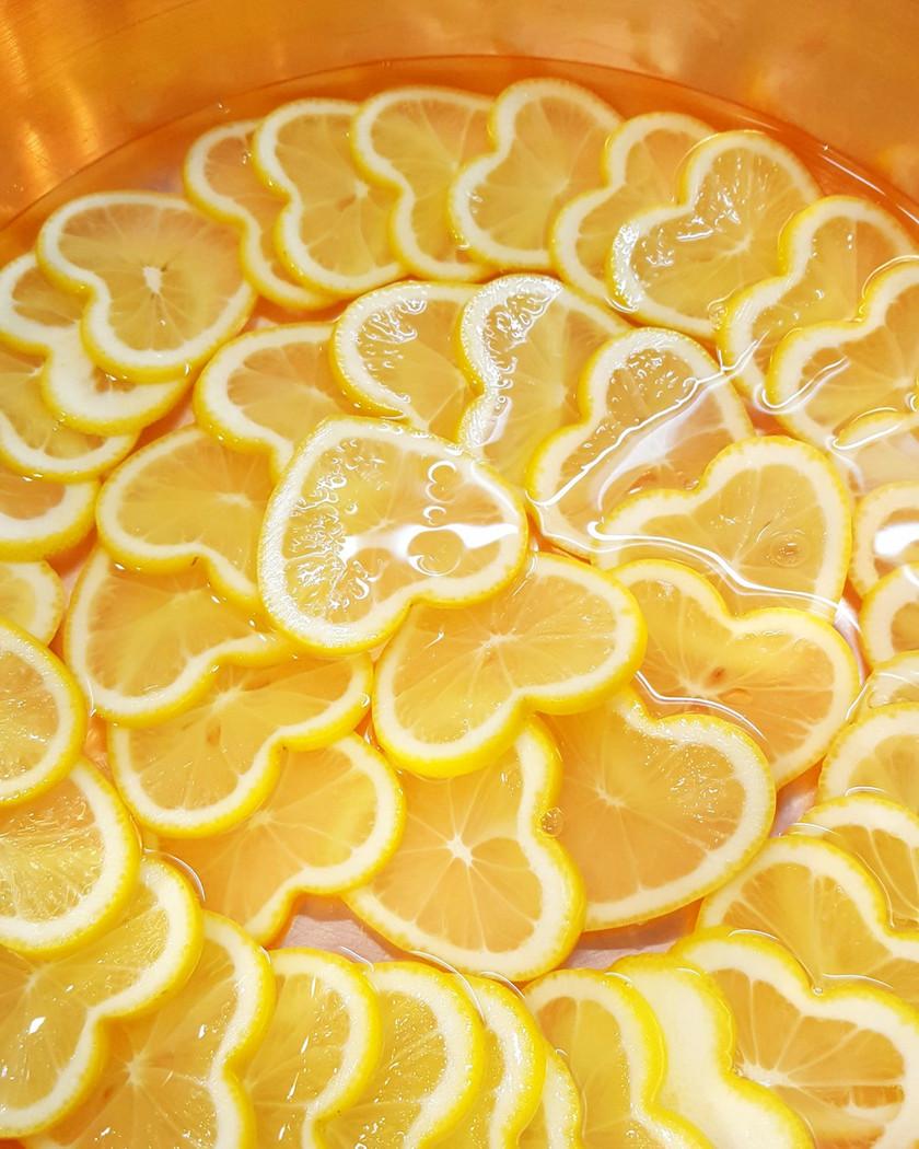 ハートレモンのコンポート シャンパン風味