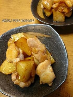 鶏肉とじゃがいもの照り焼き