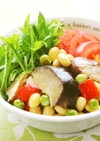 乾しいたけと大豆のマリネ風サラダ