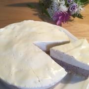 簡単♪ブルーベリーレアチーズケーキの写真