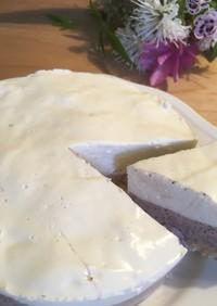 簡単♪ブルーベリーレアチーズケーキ