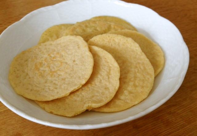 お米粒から作る玄米のパンケーキ
