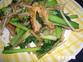 小松菜とちくわのオイマヨ炒め