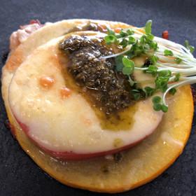 丸ズッキーニとトマトのチーズ重ね焼き