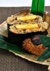 【きのこ】椎茸のおにぎらずと焼きおにぎり