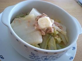 白菜とツナのにんにく煮☆バターのせ
