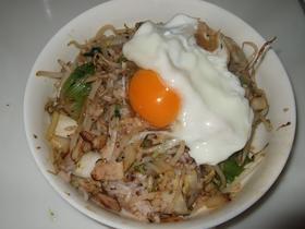 「ジャン」で簡単炒飯:卵のせ♪