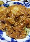 無水カレー肉味噌かけ中華麺♪