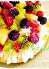 簡単☆フルーツたっぷりパンケーキ