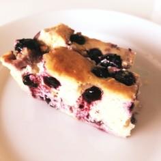 クリチ抜き☆簡単ブルーベリーチーズケーキ