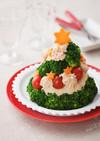 シーチキンポテサラのクリスマスツリー