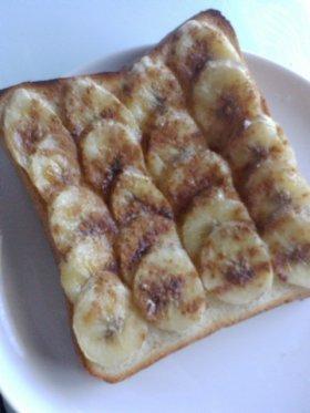 忙しい朝に…♡シナモンバナナ♡トースト