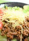 タコライス風。お野菜たっぷり肉みそ丼!