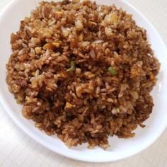 中華醤油で黒炒飯