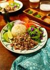 簡単☆豚ひき肉と玉ねぎのラープ風炒め