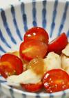 胸肉とプチトマトのさっぱり梅和え♪