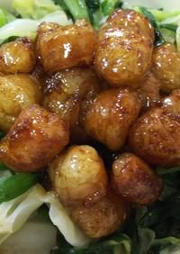 簡単美味・牛もつの山椒焼きと温野菜添え