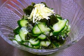涼風簡単時短!きゅうりとわかめのサラダ!