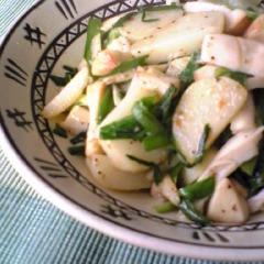ジャガイモのニラ入りマヨ炒め