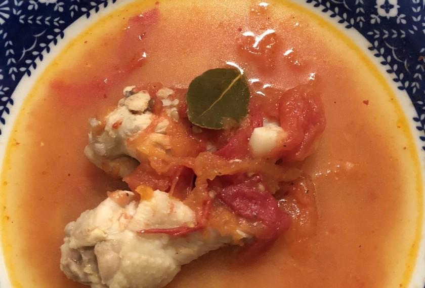 手羽元とフレッシュトマトのスープ
