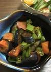茄子とオクラのポン酢炒め