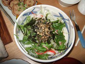 簡単:水菜+大根+じゃこのサラダ♪