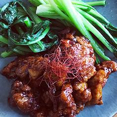 YLクコの実ジュース酢鶏