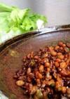 簡単5分☆納豆とひき肉のレタス包み