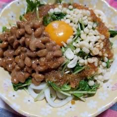 納豆サラダうどん