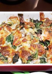 鮭と野菜とチーズのオーブン焼き