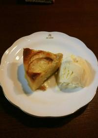 桃のタルト風アーモンドクリームケーキ