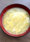 とうもろこしのひげ&玉ねぎ&卵の味噌汁